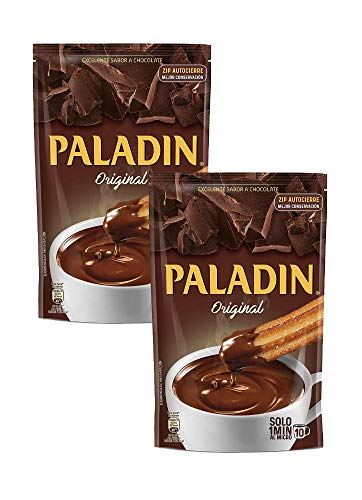 Paladin Original Chocolate Caliente Grueso A la Taza Like a Pudding Mix Ready in a Minute 12 oz (340 gr) 2 Pack