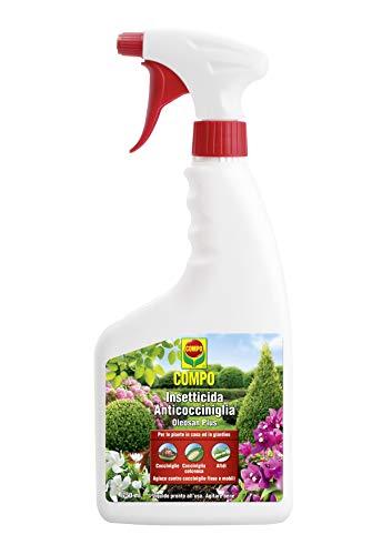 COMPO Insetticida Anticocciniglia Oleosan Plus PFnPO, Per Piante da Casa e da Giardino, 750 ml