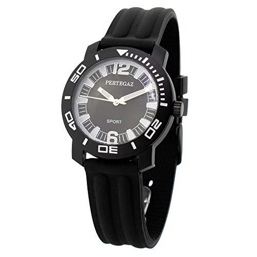 Pertegaz Reloj Analógico para Hombres de Cuarzo con Correa en Caucho P70442-N