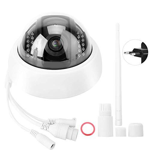 Cámara IP, cámara de Seguridad WiFi inalámbrica IP de 100-240 V, reproducción de Video Nocturna en Busca de Negocios, hogares,(European regulations)