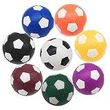 Bakiauli Pelotas de Futbolín, Mini Reemplazos del Juego de Futbolín,para Actividades Deportivas de Mesa, 36 mm(8 Piezas)