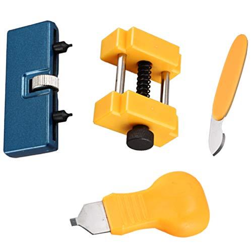 Vaorwne - Juego de 4 herramientas de repuesto de batería para reloj, práctico y duradero, funda para batería, incluye herramientas