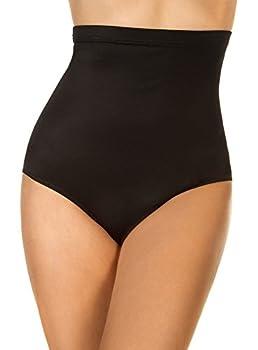 Miraclesuit Women s Swimwear Super High Waist Pant Tummy Control Bathing Suit Bottom Black 10