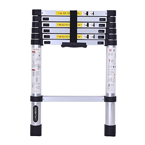 Telescoping Ladder 10.5 FT, Aluminum Extension Ladders for Home Use...