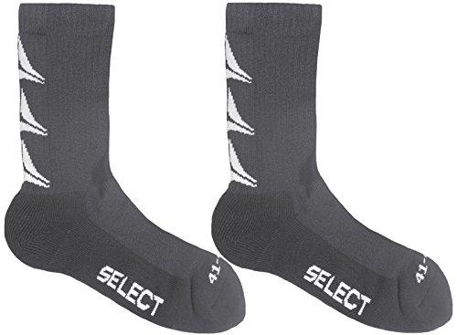 Select 2 Paar Damen und Herren Sportstrümpfe Ultimate 2er Pack Socken (grau, 46 - 48)
