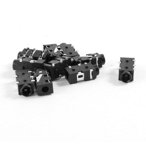 Aexit 10 Stücke Leiterplattenmontage 5 Klemmen Frau 3,5 mm Kopfhörer Audio Jack Buchse (4c304b9760248f6205532448a0ed5bf0)
