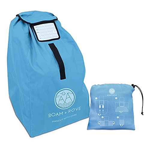 Car Seat Bag- for Air Travel, Universal Size, Backpack Carry, Water Resistant Durable Fabric, with Pushchair Clip. UK COMPANY & BRAND