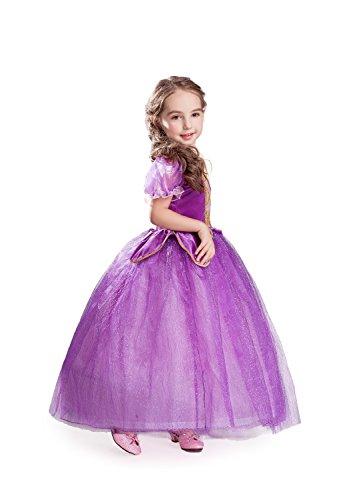 ELSA & ANNA® Ragazze Principessa Abiti Partito Vestito Costume IT-NW11-RAP (NW11-RAP, 3-4 Anni)