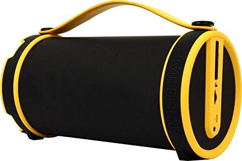 Imperial BEATSMAN Mobiler Bluetooth Lautsprecher (2.1 Lautsprecher, Bluetooth 2.1, UKW Radio, MicroSD Kartenleser) gelb