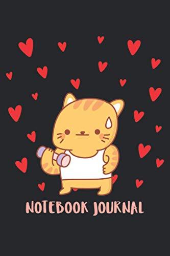 Notebook journals gifts for cat sports lovers: Ideas de regalos de San Valentín para el hijo, la universidad de la hija gobernó el regalo de amor de ... de 6 x 9 pulgadas, regalo de cumpleaños para