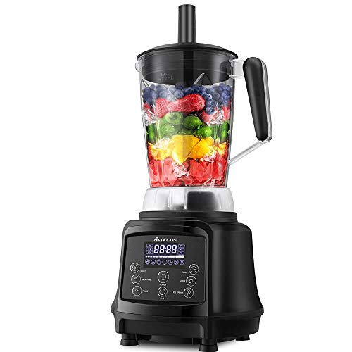 Blender, Smoothie Blender, AAOBOSI Professional Blender for Shakes and Smoothies, 75oz Pitcher, 10-speeds, Free Recipe, Black