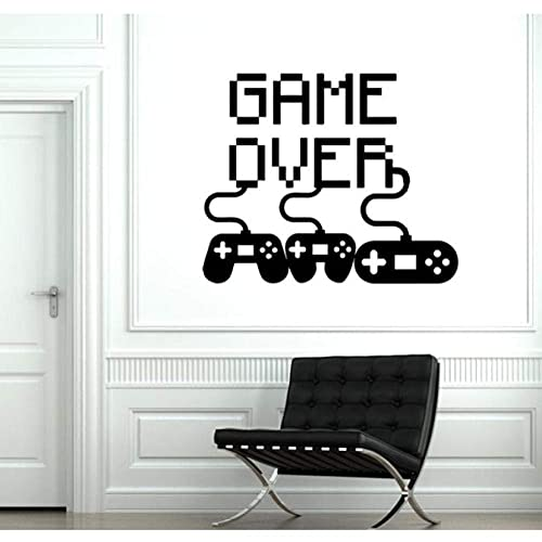Gamer Wall Decal Game Joystick Gamepad Gamepad Vinyl Decal Sticker Removible Art Mural Boy Dormitorio Decorati