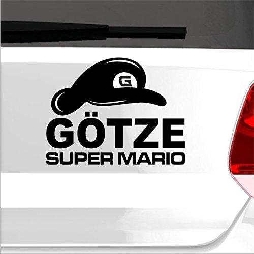 malango® Super Mario Götze Aufkleber Autoaufkleber Sticker Shocker Fußball WM Weltmeisterschaft 2014 60 x 45 cm grau grau 60 x 45 cm