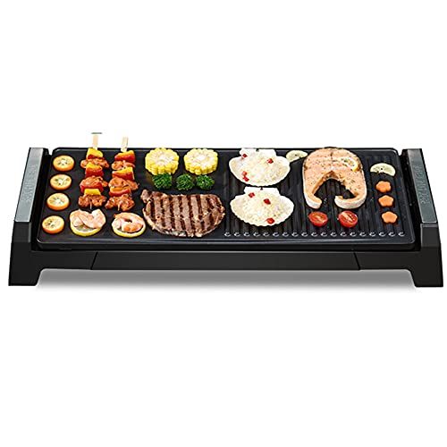 Barbecue grill Large electric Indoor smokeless electric Multifunctional non-stick grilling tray Portable barbecue tool for multi-person gatherings