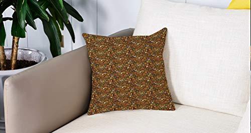 Square Soft and Cozy Pillow Covers,Alemán, estilo de dibujos animados Cute Deutschland Pattern con bandera de lúpulo y pretzels Do,Funda para Decorar Sofá Dormitorio Decoración Funda de almohada.