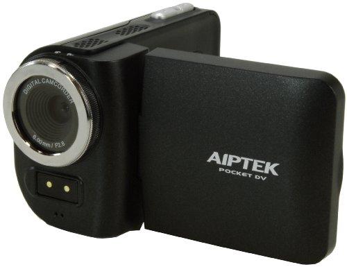 Aiptek Camcorder T8 Starter (5 Megapixel, 4-Fach Digital Zoom, 6,1 cm (2,4 Zoll) TFT Display, SD/SDHC Kartenslot bis 32GB, AV-Out) schwarz