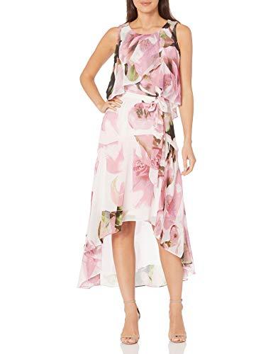 Sangria Damen Popover Maxi Dress Kleid für besondere Anlässe, Lilac/Sage, 36