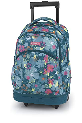 Gabol Mochila Trolley Aloha Children's Backpack, 46 cm, Blue (Multicolor)