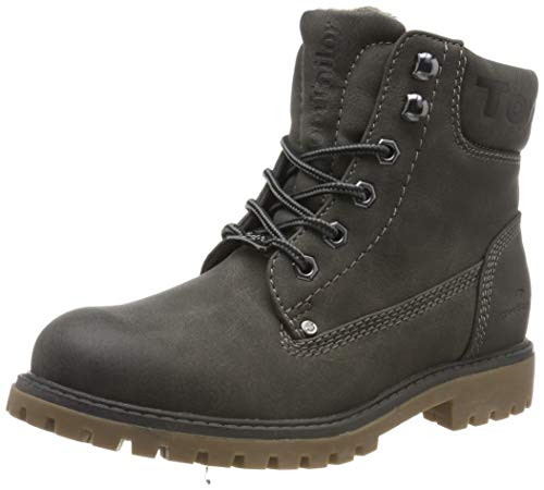 TOM TAILOR Damen 7990114 Stiefeletten, Grau (Coal 00013), 38 EU