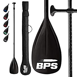 BPS Adjustable 2-Piece SUP/Stand Up Paddleboard Paddle - Carbon Fiber or Fiberglass - Comes with Carrying Bag… 18 THE COMPANY - Helping everyone to 'get out and do' is the reason Barrel Point Surf exists. Created by a Kiwi surfer and caring Dad who loves helping others get out onto and into the water, we're a Mom & Pop business that began with us building surfboards in our garage. Now we are all about helping make water sports accessible, wherever you are in the world. Say yes to barrels, not barriers. THE PRODUCT - The BPS Adjustable Carbon Fiber/Fiberglass 2-piece SUP Paddle gives you the best SUP-ing experience with its high performance and quality material. These paddles have an instant and secure adjustment mechanism that floats when parts are together and can be separated into two pieces for convenient transport/storage. MORE ABOUT THE PRODUCT - The FIBERGLASS COMPOSITE PADDLE is made of a FIBERGLASS shaft and NYLON blade that weighs 1.7 lbs and extends from 1800 to 2130 mm (70.86 - 83.85 in). The CARBON FIBER COMPOSITE PADDLE is constructed of CARBON FIBER shaft and NYLON blade which weighs 1.7 lbs, too and adjusts from 1800 to 2130 mm (70.86 - 83.85 in).