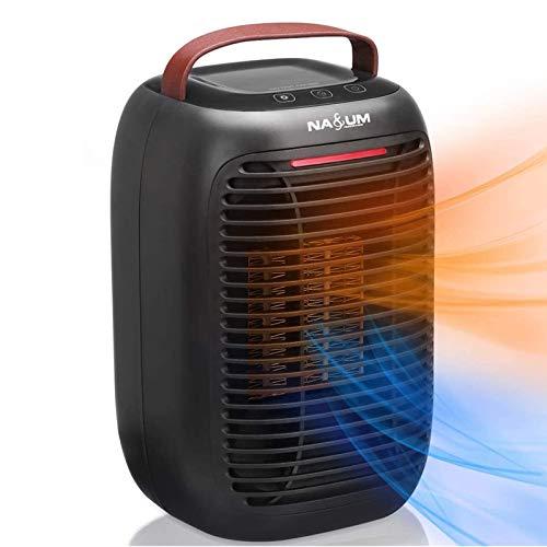 NASUM Calentador Eléctrico Portátil/Calentador de Ventilador, Fácil de Calentar/Sin Fuego/Seguro y Respetuoso...