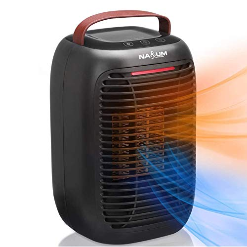 Heizlüfter NASUM 3 Heizstufe 950W PTC Keramik tragbar Elektrische Heizung|Überhitzungsschutz| Ohne Feuer| geeignet für Schlafzimmer, Büro, Badenzimmer