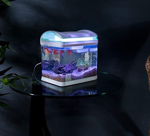 Sweetypet Aquarium: Transport-Fischbecken mit Filter, LED-Beleuchtung und USB, 3,3 Liter (Aquarium-Set) - 4