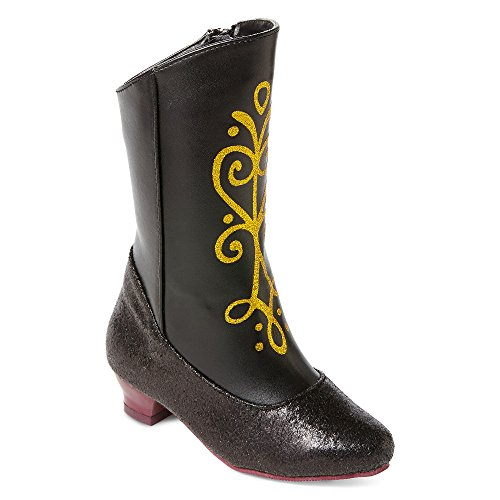Disney Frozen Princess Anna Black and Gold Costume Boots (9/10)