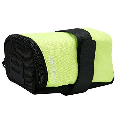 Ultrasport Alforja para bicicleta, 0,5 l de capacidad, p. ej. para transportar herramientas o la cartera, compatible con todas las bicicletas habituales, Amarillo