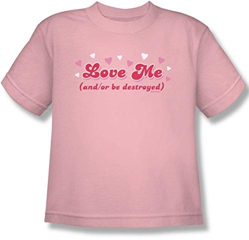 Ámame - Camiseta de la juventud en rosa, Large, Pink