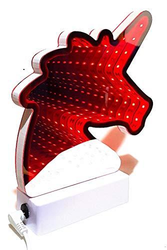 Lampe Stimmungslicht Licht Tunnel Spiegel Tunnellicht Lichttunnel 32 LED`s USB Dekoration Party Geschenk 3D Effekt