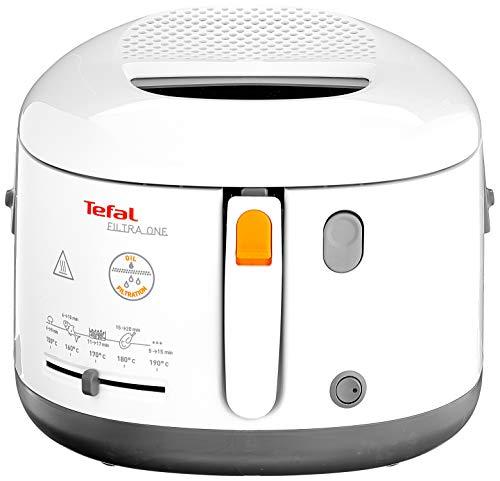 Tefal FF1631 Fritteuse One Filtra / 1.900 Watt / wärmeisoliert/ 1,2 kg Fassungsvermögen / weiß/anthrazit