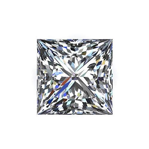 Gopi Gems Moissanita suelta 6.00 quilates, diamante incoloro real, claridad VVS1, piedra preciosa brillante cortada princesa para hacer anillos vintage, joyas, colgantes, pendientes, collares, relojes