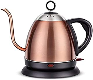 Home, Lon g Mouth Teapot Electric Kettle, 304 Stainless Steel 1L Mini Household Kettle, Automatic Power Off anti-Dry Kettl...