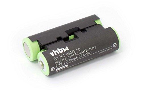 vhbw batería Compatible con Garmin GPSMap 64, 64s, 64st navegador (2000mAh, 2,4V, NiMH)