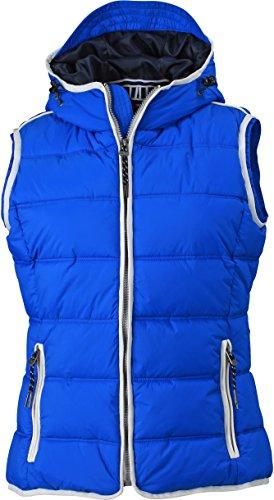 James & Nicholson Damen Jacke Weste Ladies\' Maritime Vest blau (Nautic-Blue/White) Large
