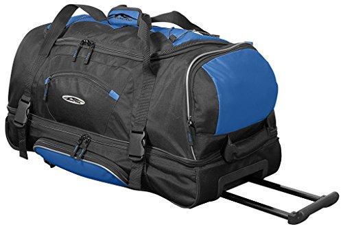 Große Reisetasche 106L XXL mit Rollen Trolley Jumbo Tasche Reise Koffer Sporttasche Schwarz Blau