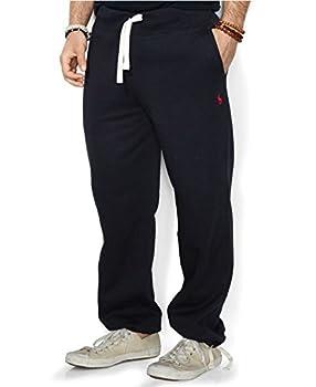Polo Ralph Lauren Mens Fleece Lined Sweatpants  Black red Pony