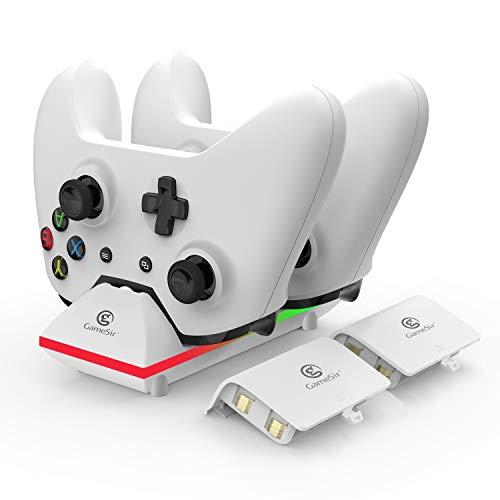 GameSir Xbox One Dual-Ladestation mit 2X 800mAh Akkus und 1 m USB Kabel für Xbox One/One S/One X/One Elite Wireless Controller