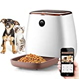 NICREW Automatic Cat Feeder with 1080P HD Wifi Camera, Smart Feed Auto Pet Food Dispenser for Dogs and Cats, 12-meal (3.3L)