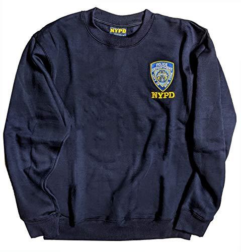 NYC FACTORY New York Cops–NYPD Herren Crewneck Sweatshirt Marineblau Gr. XX-Large, Blau - Navy