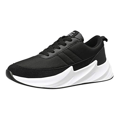 AIni Herren Schuhe,Mode Beiläufiges 2019 Neuer Heißer Sommer Outdoor Casual Schnürschuhe Sportschuhe Mesh Breathable Lauf Sneakers Partyschuhe Freizeitschuhe(40,Schwarz)
