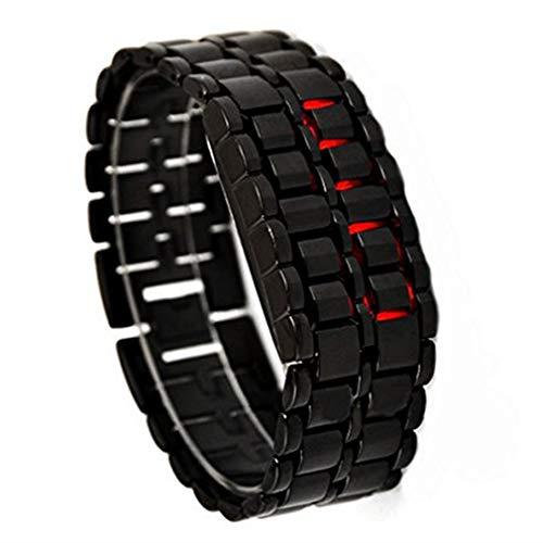 gemius army Herren Digital LED Armband Armbanduhr Metallic Lava Style Watch von TheBigThumb