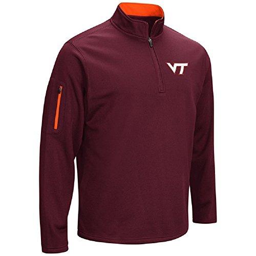 Colosseum Men's VF Poly Fleece 1/4 Zip Pullover-Virginia Tech Hokies-Maroon-Medium
