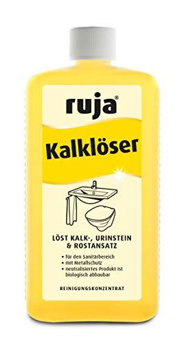 ruja Kalklöser 1 Liter | Badreiniger Konzentrat gegen Kalk, Urinstein, Zementschleier und Wasserflecken | für den gesamten Sanitärbereich