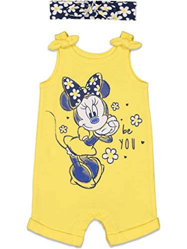 Disney Minnie Mouse Toddler Girls Romper with Headband 5T Yellow