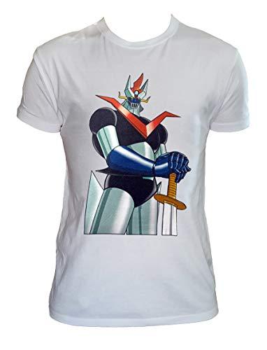 UZ Design T Shirt Mazinga Z Anime Manga Maglietta Robot Anni 80 Uomo Donna Bambino Mazinger Z, Bianco Uomo - 4XL