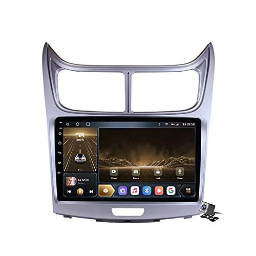 Buladala Android 10 MP5 Player GPS Navegación para Chevrolet Sail 2009-2013, Soporte WiFi 5G DSP/FM RDS Radio de Coche Estéreo/BT Hands-Free Calls/Control del Volante/Carplay Android Auto,M300