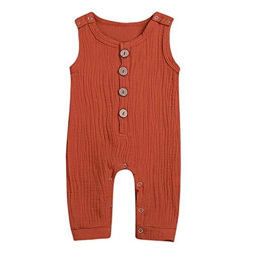 JiaMeng Spielanzug Baby,MäDchen Sommer Strampler Papa Allegorly Blumen Druck Ärmellos FußSet Bodysuit Kleidung Outfit Jumpsuit Overall (0M-18M)