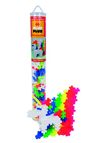 Plus-Plus 300.4109 Kreativ-Bausteine Tube, Einhorn, Geniales Konstruktionsspielzeug, 100 Teile